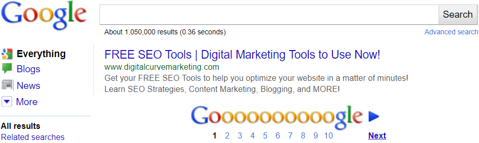 FREE SEO Search Engine Results page snippet tool