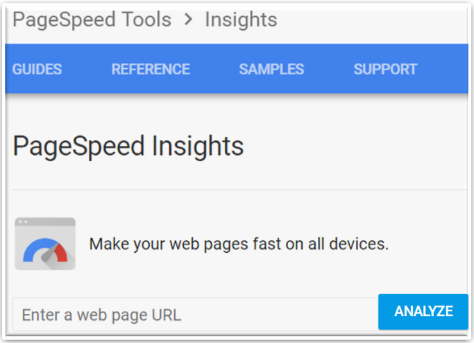 PageSpeed Insights Tool for use on your website